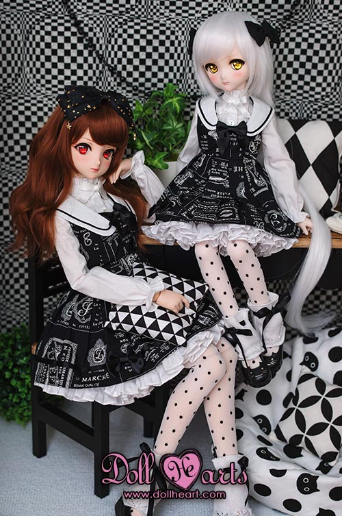 [Pre-order] DH000452 Black Scholar Dress SET