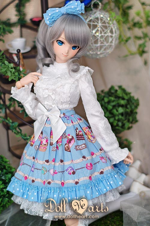 [Pre-order] DL000007 Blue Printed Holiday Dress [DDL Ver]