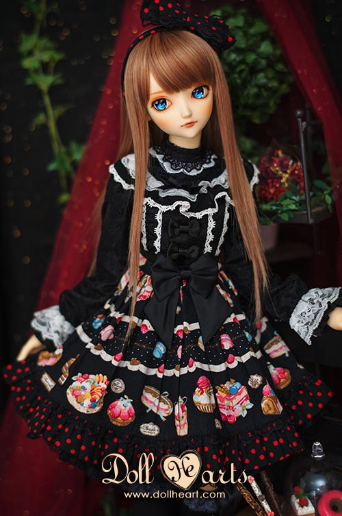 [Pre-order] LD000746 Black Printed Holiday Dress [SD13 G Ver]